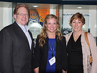Caitlin Taylor, recipient of the Lander Family Scholarship with Mr. and Mrs. Steward Lander
